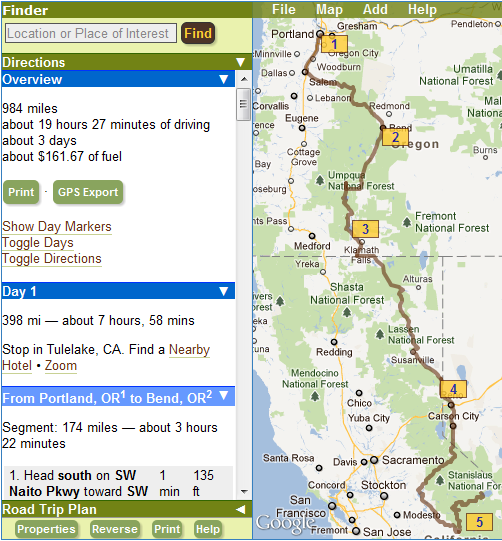 s road trip planner documentation