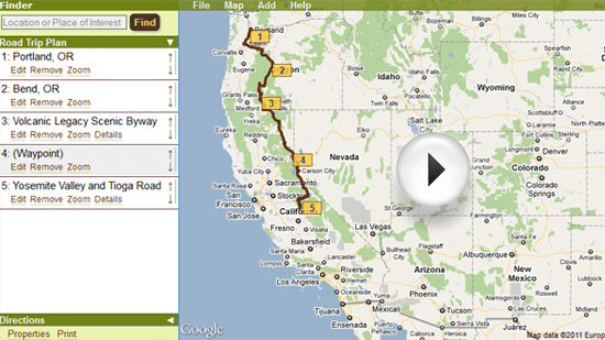 how to create an itinerary map